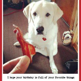 Birthday bacon